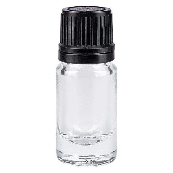 Apothekenflasche klar 5ml Schraubv schw. Giessring OV