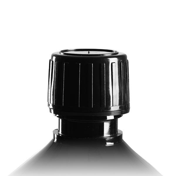 Schraubverschluss schwarz Spri 28mm f PETMedFl, OV