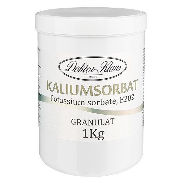 1000g Kaliumsorbat, in Dose mit weißem Schraubdeckel