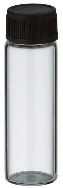 Mini Flasche 5ml inkl. Verschluss schwarz mit Dichtung
