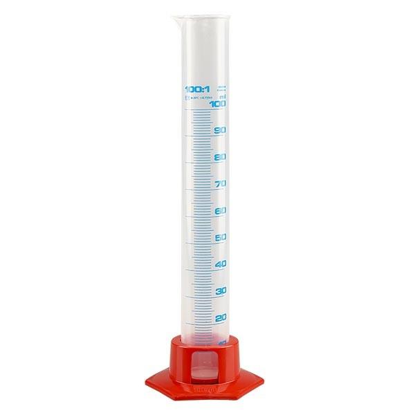 100ml Messzylinder PP, graduiert mit Fuß