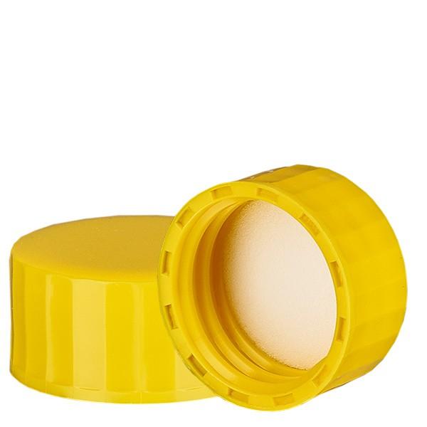 Schraubverschluss gelb mit PE Einlage, S27x3