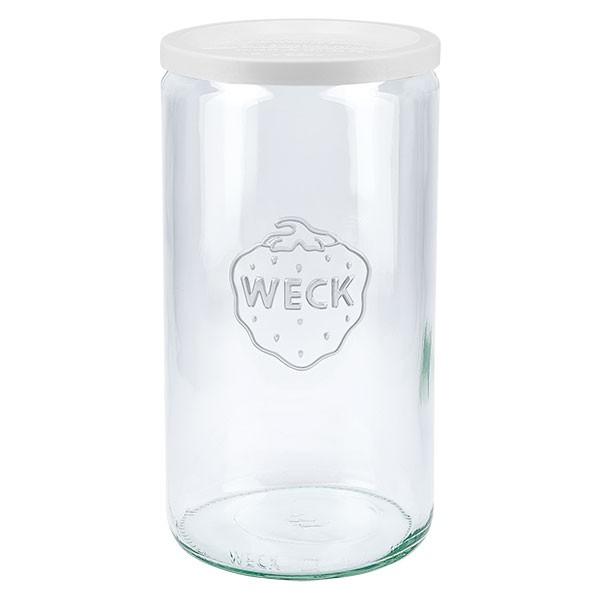 WECK 1590ml Zylinderglas mit Frischhalte Deckel
