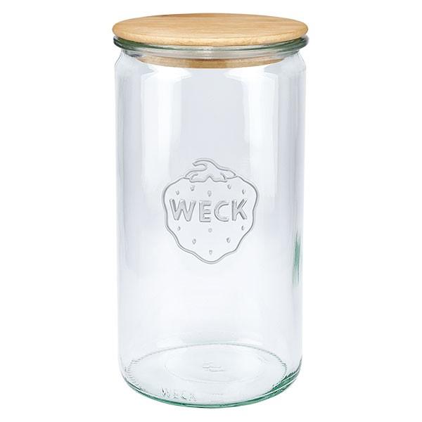 WECK-Zylinderglas 1590ml mit Holzdeckel