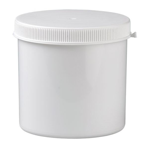 Weiße Kunststoffdose 1000ml mit Press-on-Verschluss