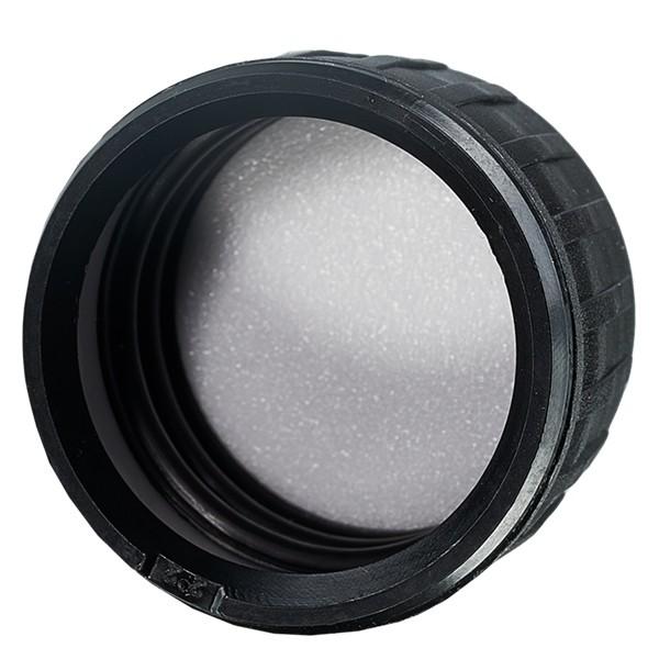 Schraubverschluss OV DIN 28 schwarz aus PP mit EPE-Dichtscheibe