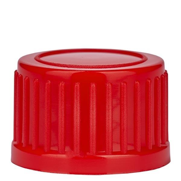 Schraubverschluss, rot, DIN18, Standard