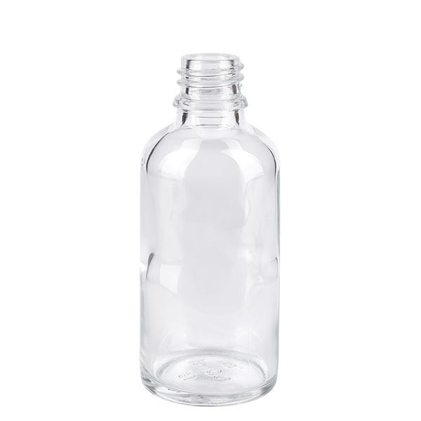 Tropfflasche 50ml ND 18 Klarglas Apothekenglas