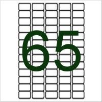 65 Etiketten weiß f. Globuli/Essenzenr. 38.1x21mm