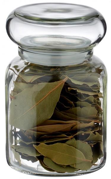 Gewürzglas Idee: Stopfenglas 695ml eckig Klarglas inkl. Glasstopfen Öffnung 57mm