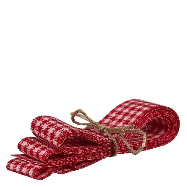 Stoffband rot/weiß 25mm breit - 3m lang - zum Dekorieren von Gläsern