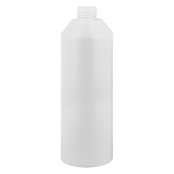 Zylinderflasche HDPE 250ml weiss, S20x3, ohne Verschluss