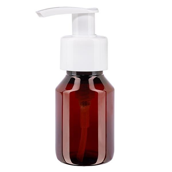 60ml Pet-Medizinflasche m. weisser Dispenserpumpe