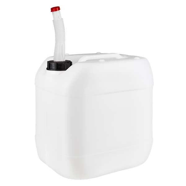 Kanister 15 Liter mit Auslaufrohr flex