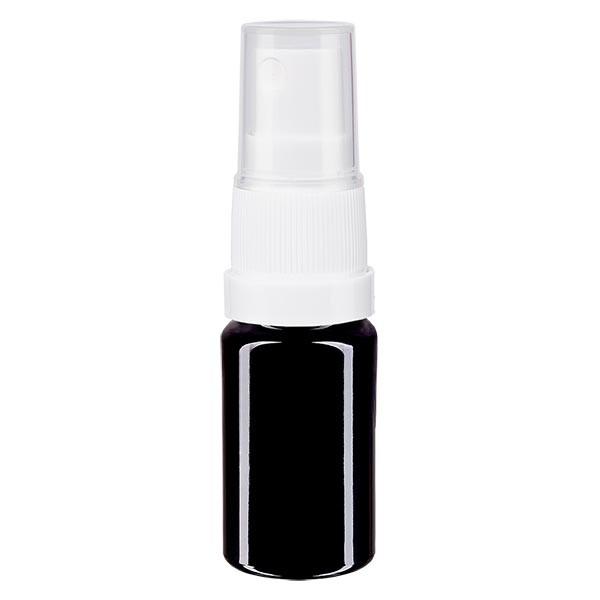 Violettglasflasche 5ml mit Pumpzerstäuber weiss
