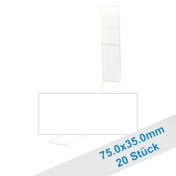 20er Pack Etiketten 75.0x35.0mm zum Beschriften