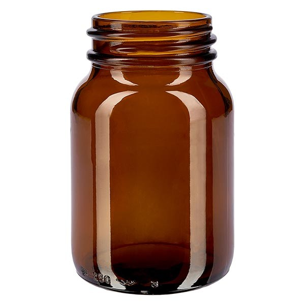 Weithalsflasche 250ml Braunglas mit DIN 55 Mündung ohne Verschluß