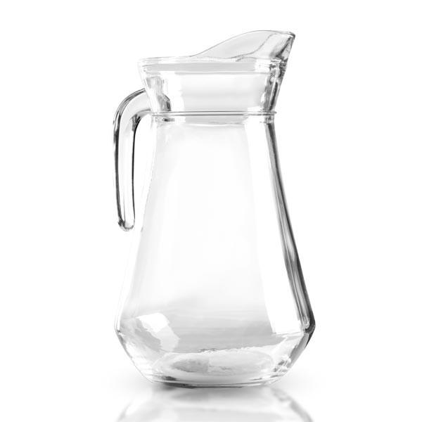 Glaskanne / Glaskrug aus gehärtetem Klarglas 1 Liter