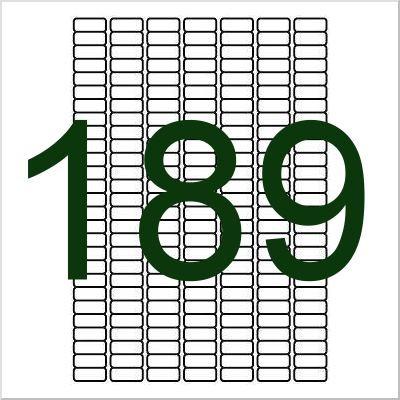 189 Etiketten, weiß, wieder ablösbar 25x10mm