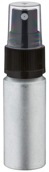 20ml Aluminium-Flasche gebeizt inkl. Pumpzerstäuber schwarz