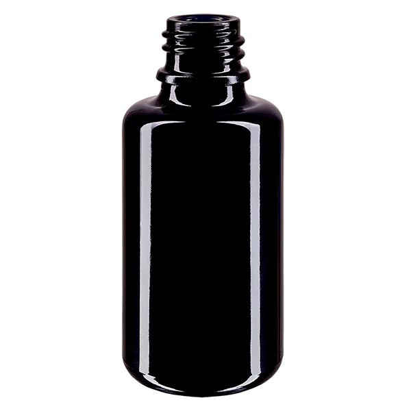 Violettglas Flasche 30ml DIN 18 (Mironglas)