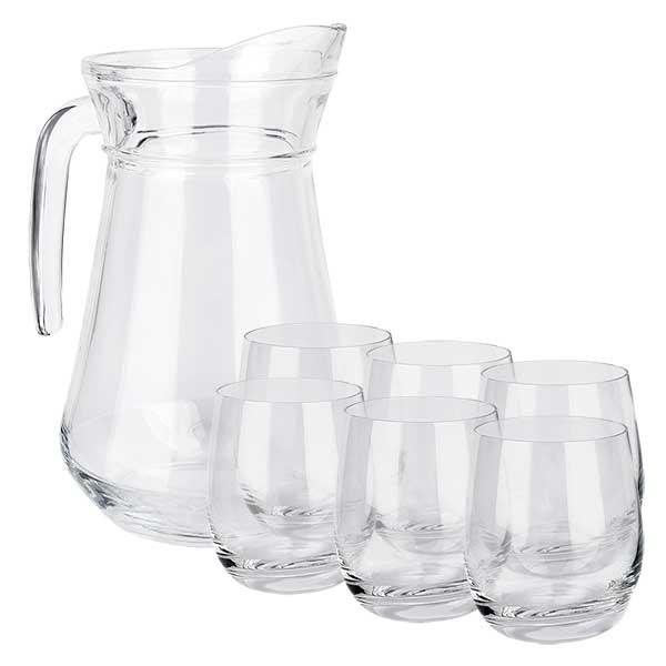 Glaskanne France 1.6 Liter & 6 Gläser Doktor-Klaus