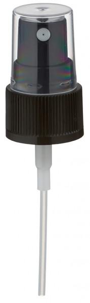 Pumpzerstäuber für 30ml Alu-Flasche schwarz mit Schutzkappe GCMI 20/410