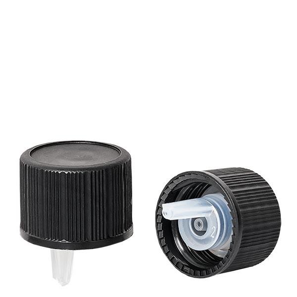 Tropfverschluss 1mm schwarz 18mm Standard