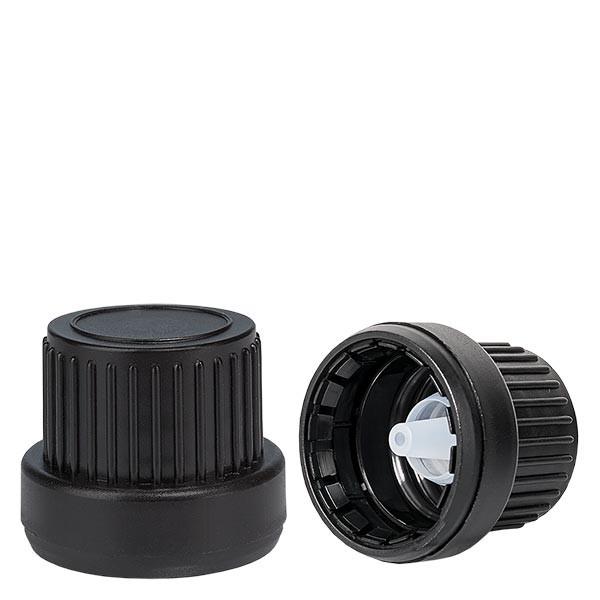 Tropfverschluss 2mm Premium schwarz 18mm OV