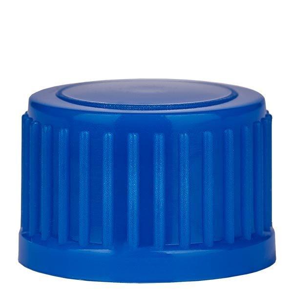 Schraubverschluss, blau, DIN18, Standard