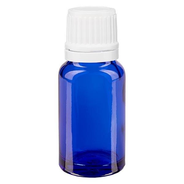 Apothekenfl. blau 10ml Tropfv. 1.2mm weiss OV