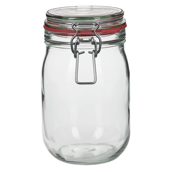 1140 ml Drahtbügelglas / Spannbügelglas rund, für Pasteurisation geeignet
