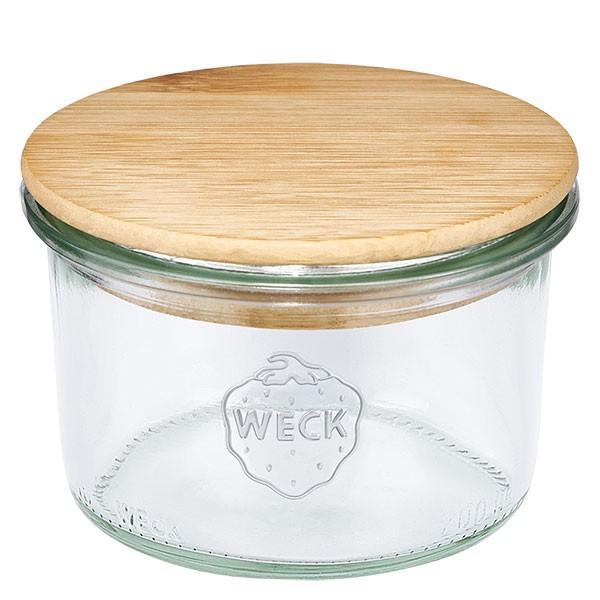 WECK-Sturzglas 200ml mit Holzdeckel