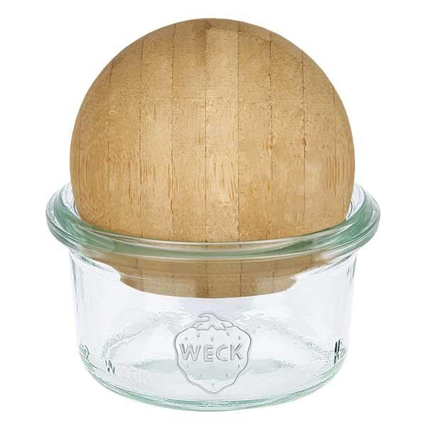 WECK-Mini-Sturzglas 50ml mit Holzkugel