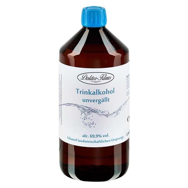 700ml Primasprit 69,9% vol. Alc. in in brauner PET Flasche mit OV blau