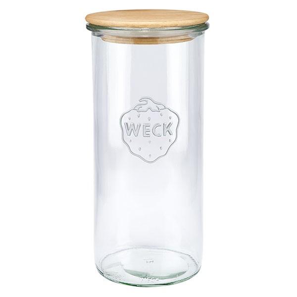 WECK-Sturzglas 1550ml mit Holzdeckel
