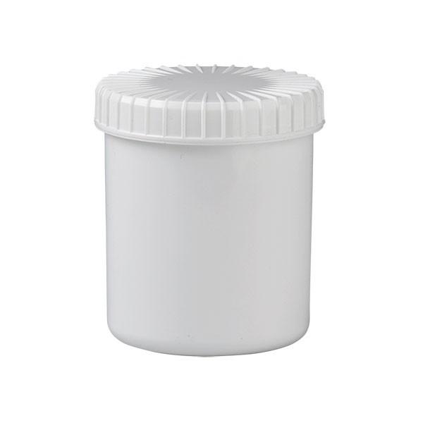 180ml Schraubdose aus weißem Kunststoff mit Deckel