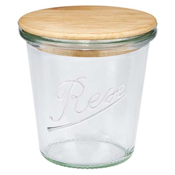 Edition REX 290ml Sturzglas mit Holzdeckel
