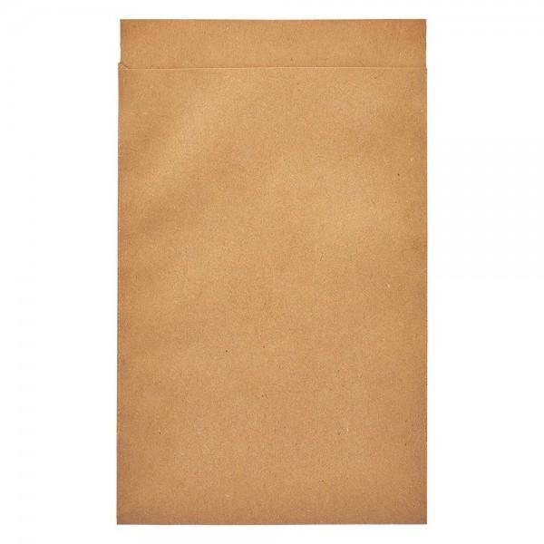 100 Papierbeutel 63 x 93 + 14 mm Klappe