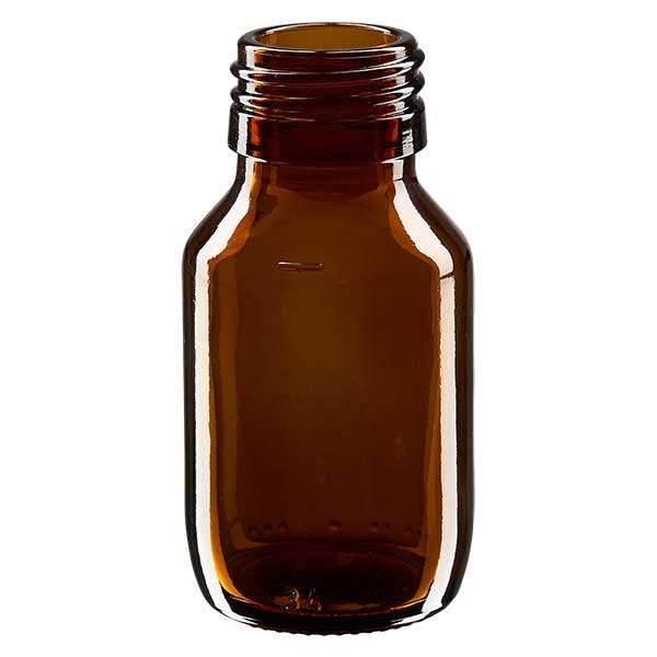 50ml Euro-Medizinflasche braun