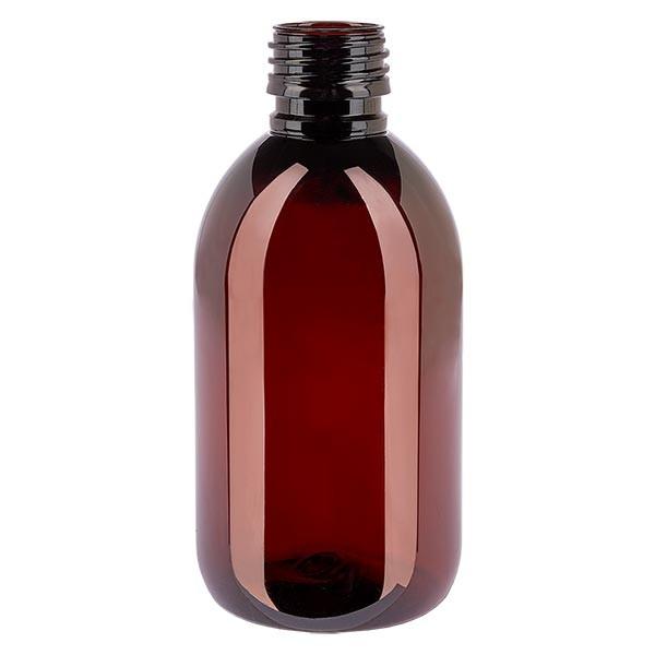 PET Medizinflasche 250ml braun PP28, o. Verschl.