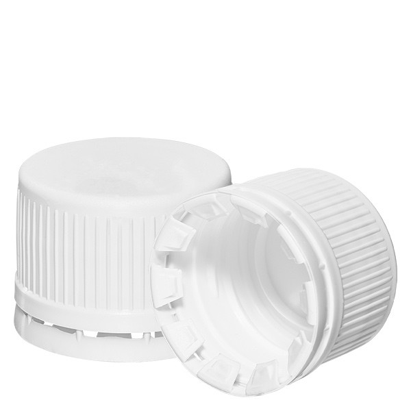 Schraubverschluss weiss 28mm mit OV (für EuroMedFlaschen)